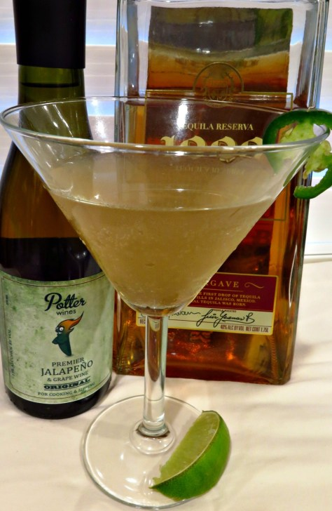 Jalapeno Wine and Ginger Cocktail
