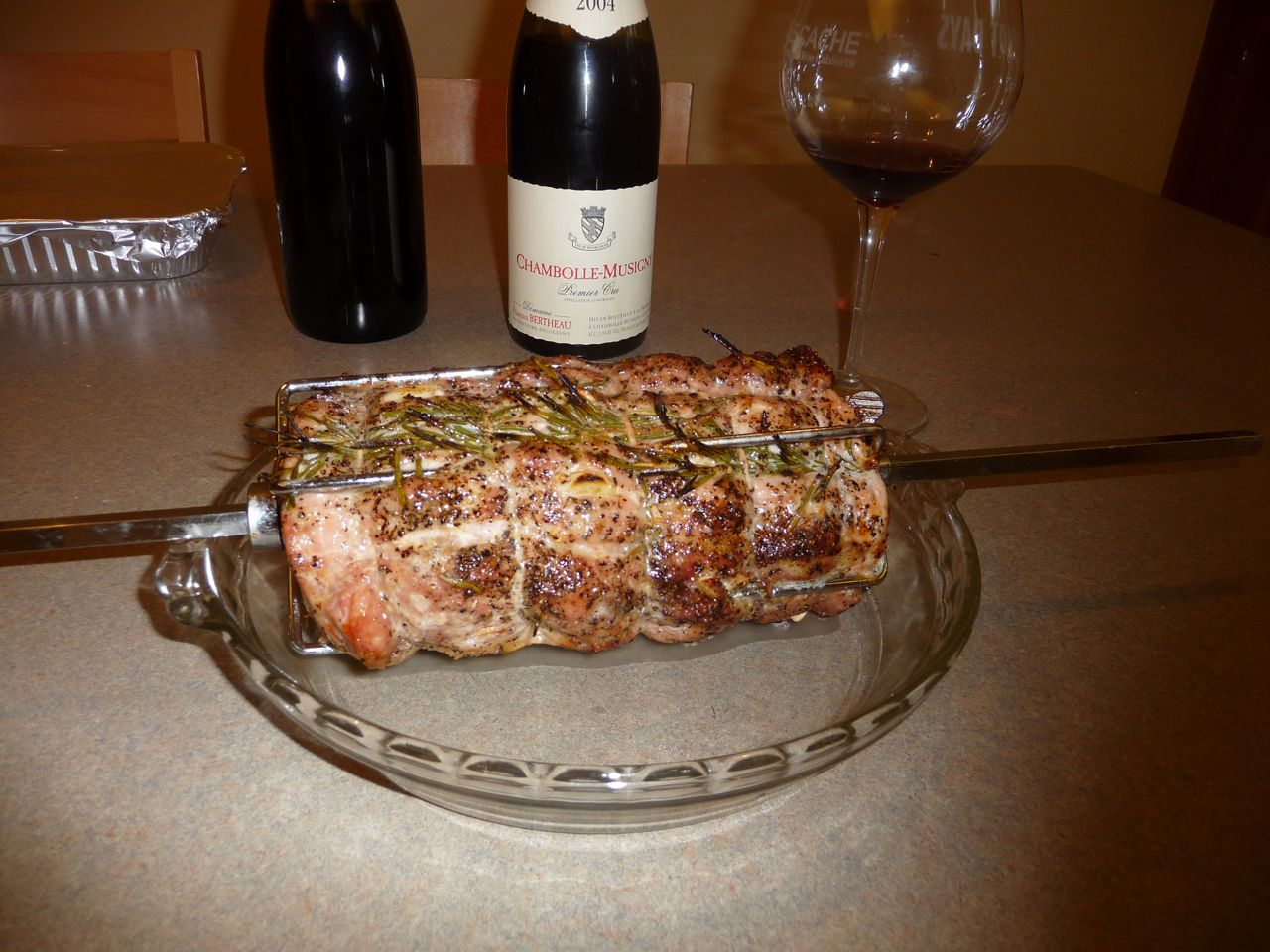 Pork roast and Pinot