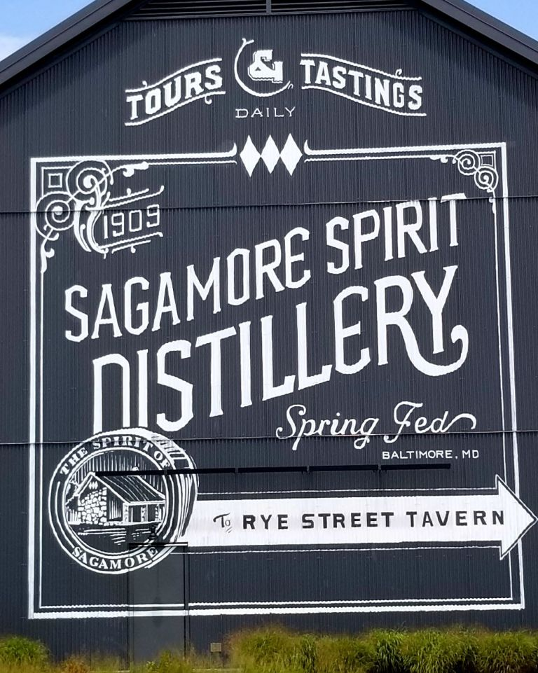 Sagamore Spirit Distillery Sign