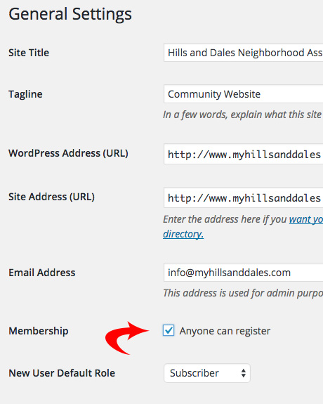 WordPress - Anyone Can Register