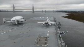 The flick deck aboard the USS Yorktown, Charleston, South Carolina