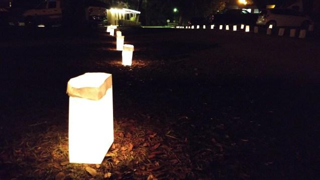 Luminaries before Christmas at Sumter Oaks RV Park, Bushnell, FL 2017