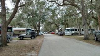 Catfish lane at Peace River RV Resort, a Thousand Trails Property south of Wauchula, FL