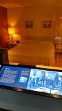 Inside room 306 of the Lorraine Motel, Memphis, where Dr. Martin Luther King Jr was assassinated outside on the balcony