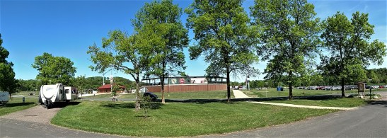 Our site (#1) is just across the road from the First National Bank Baseball Field