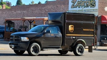 Pickup trucks are everywhere, including with UPS drivers in Cody, WY