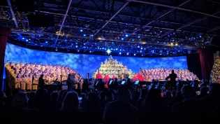 The Candlelight Processional processional at Epcot Center, the 60th year since Walt Disney debuted it at Disneyland.