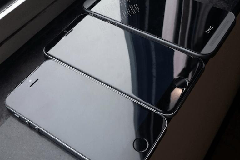 مقارنة شاشة الايفون 6 مع هاتف htc one
