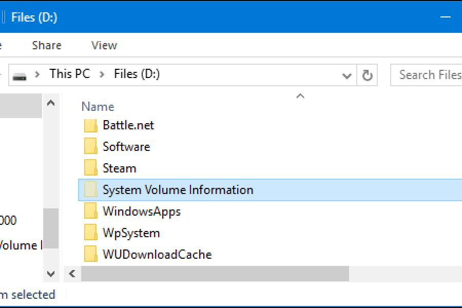 ما هو ملف system volume information وهل يمكن حذفه