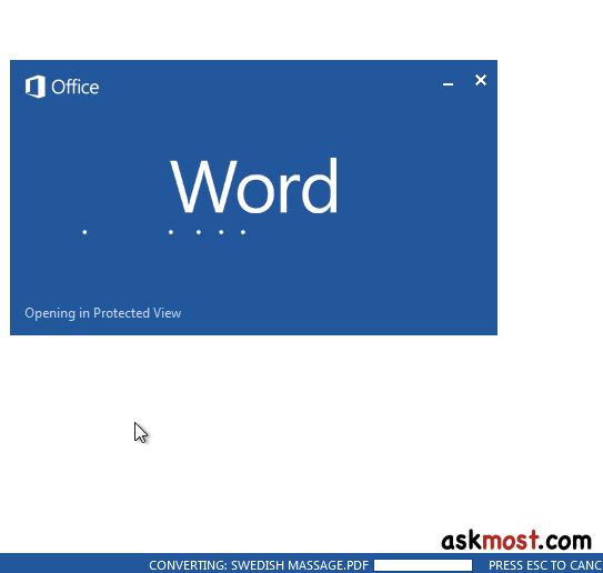 تشغيل ملفات pdf - convert text from a pdf into word ٥