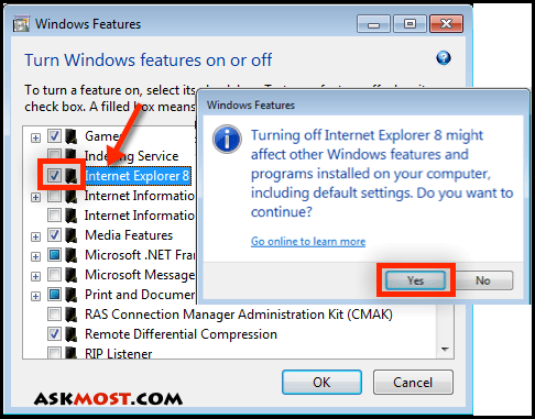 حذف internet explorer 9-3