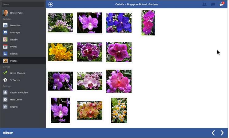 Official Facebook Windows 8 App