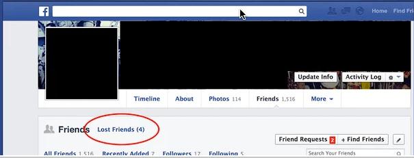 معرفة من حذفني من الفيس بوك