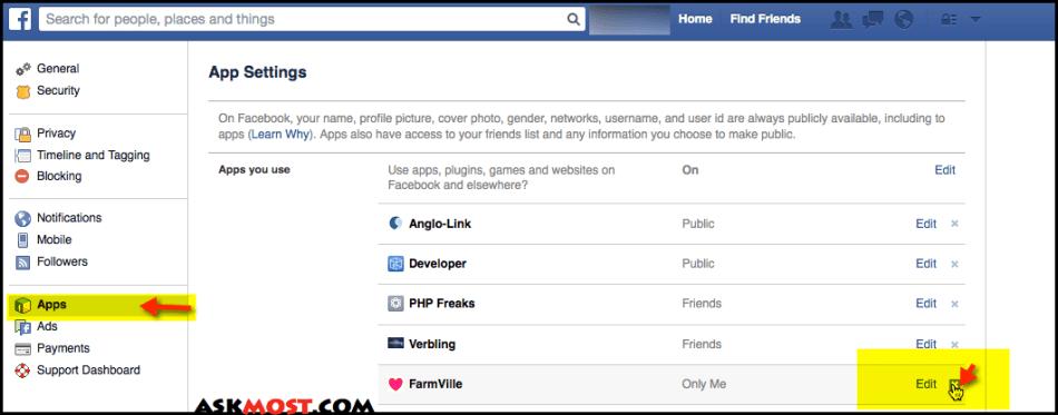 حذف الالعاب من الفيس بوك-٢