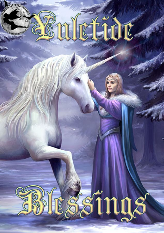 Anne Stokes Pure Magic Unicorn Yule Greeting Card