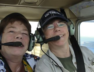 SJB and MEB Enroute to Campbell River