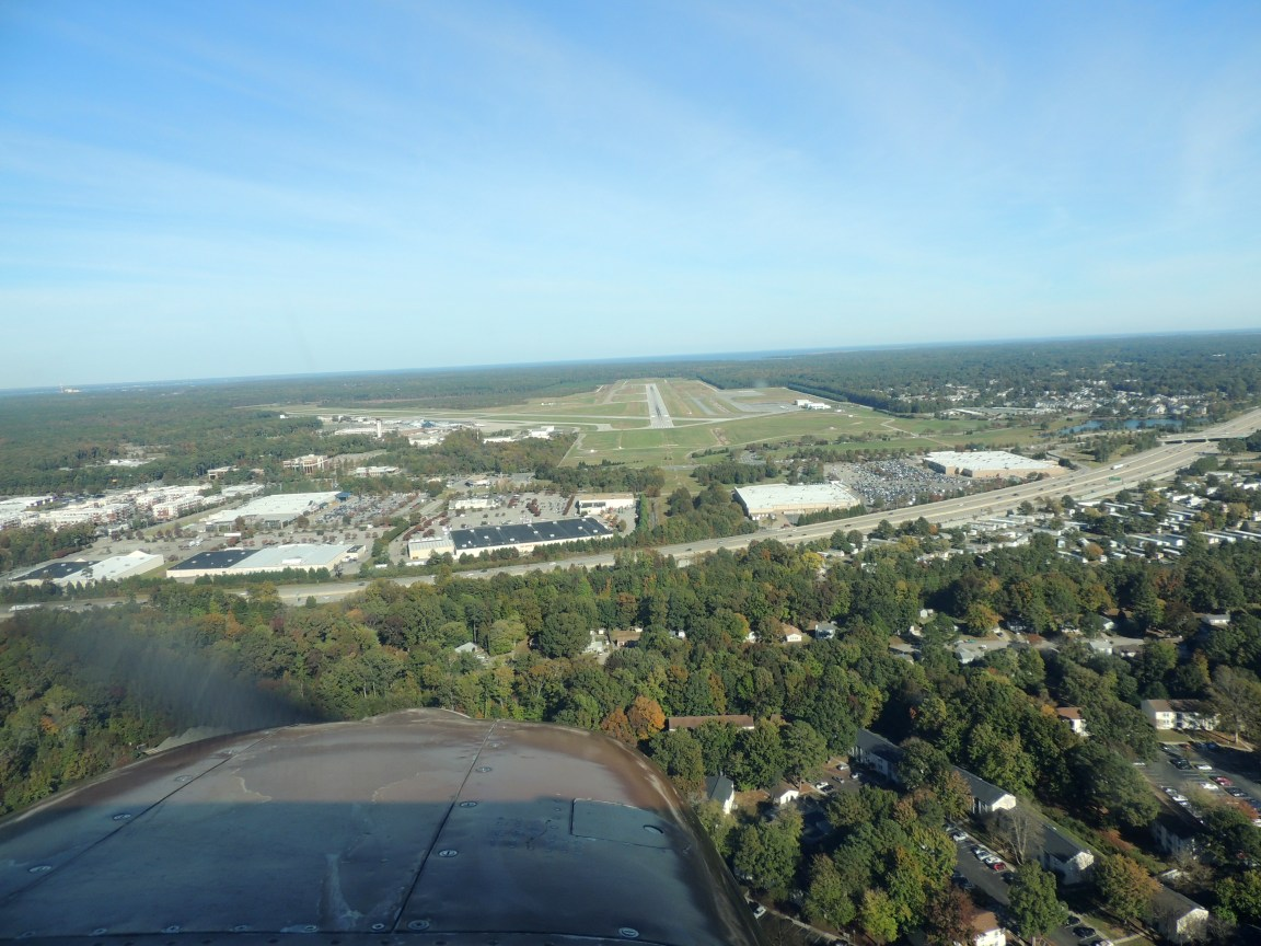 On approach to Newport News