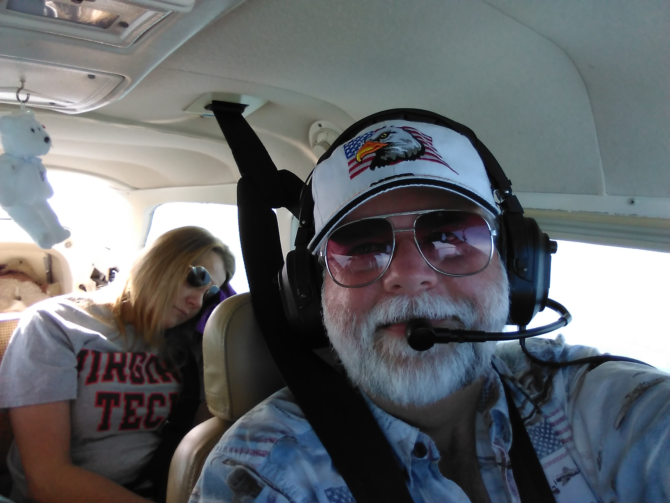 Kendall's Mom........ Our flying put her to sleep !