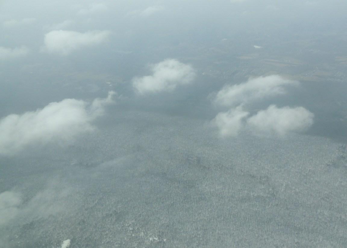 Flying thru snow head to Bedford MA