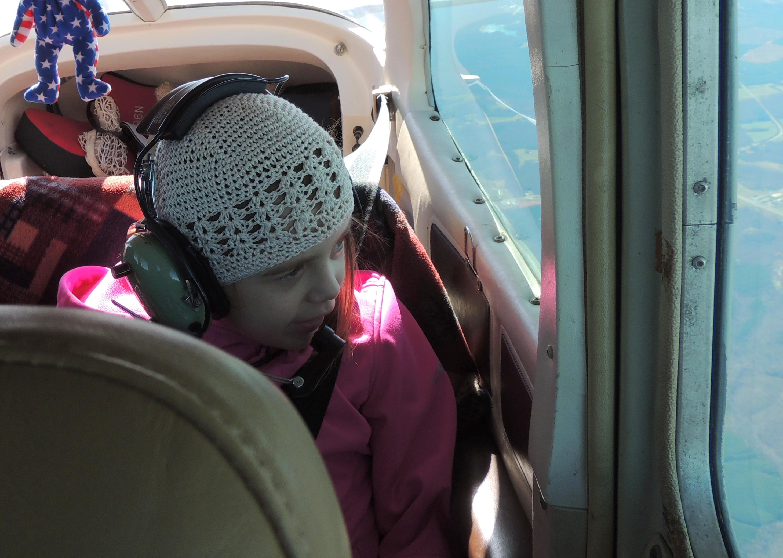 Kendall enjoying the bumpy ride