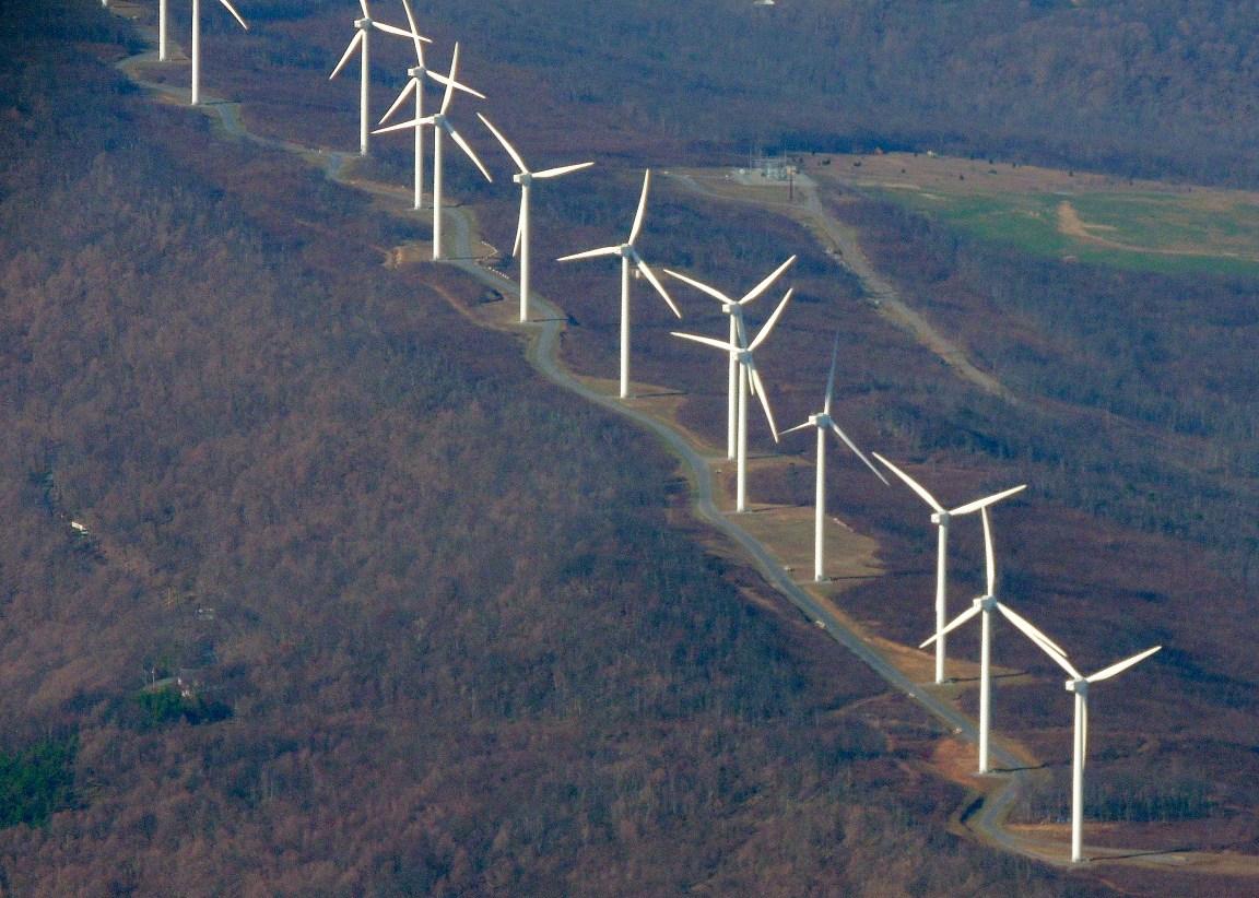 Windmills above Keyser WVa