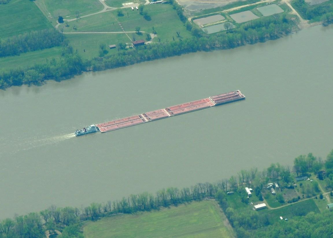 Bardge on the Ohio River