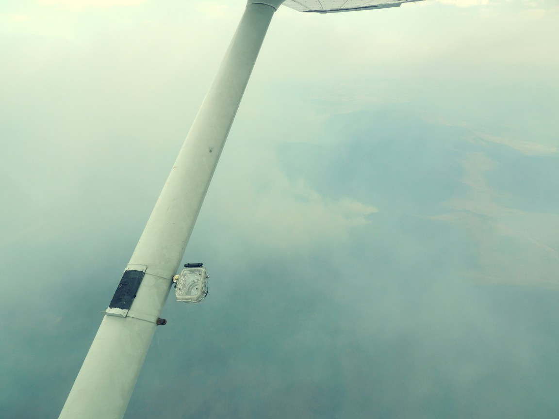 Flying thru forest fire smoke heading home