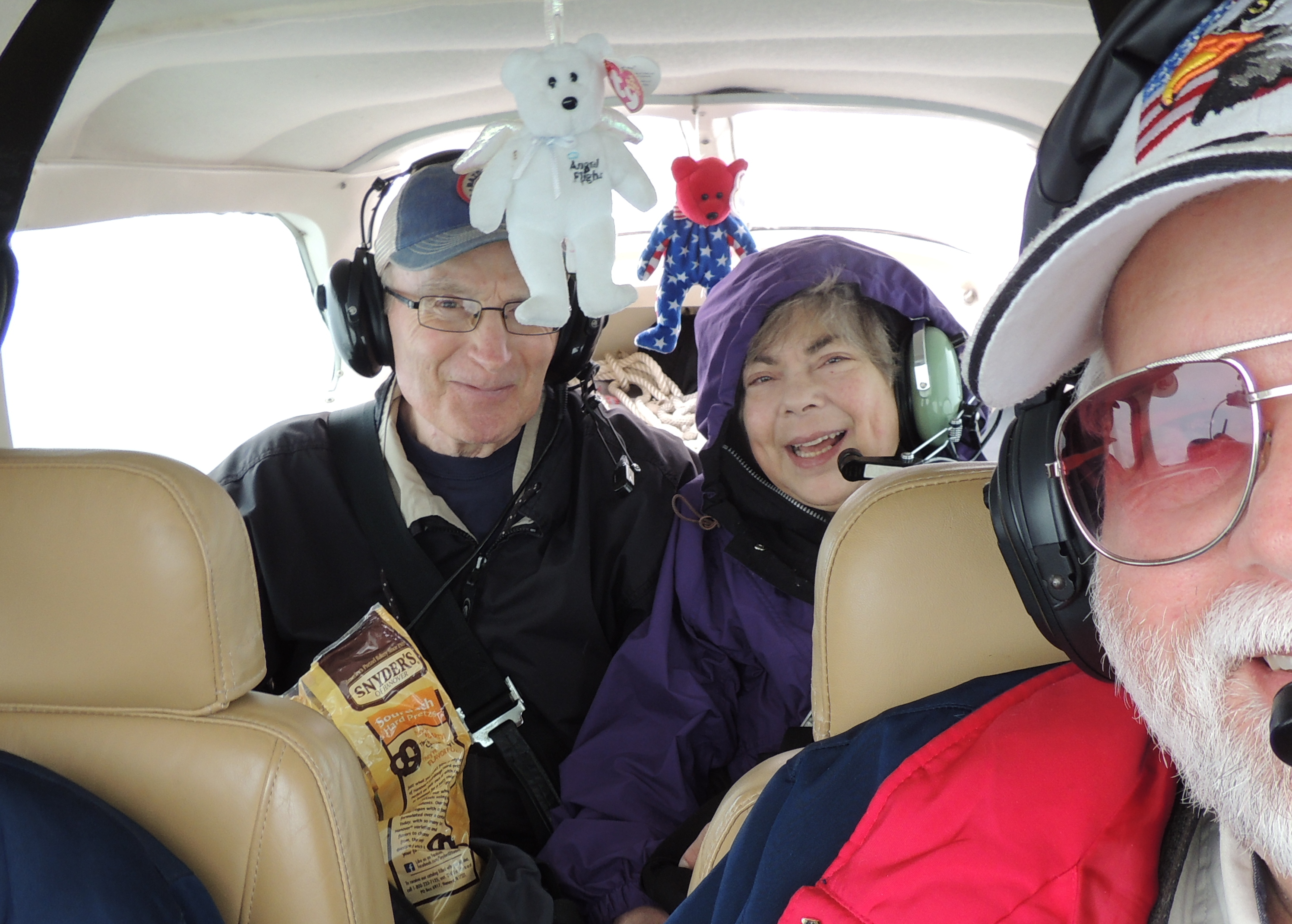 Happy Passengers .......  Philip and Brenda ..... on our way to Pittsburgh PA