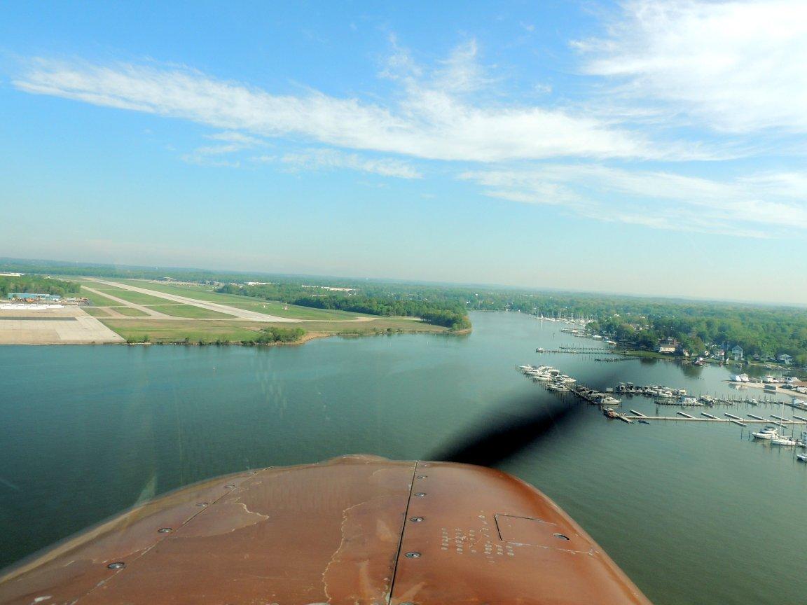 Landing at Martin Field (Baltimore Maryland)