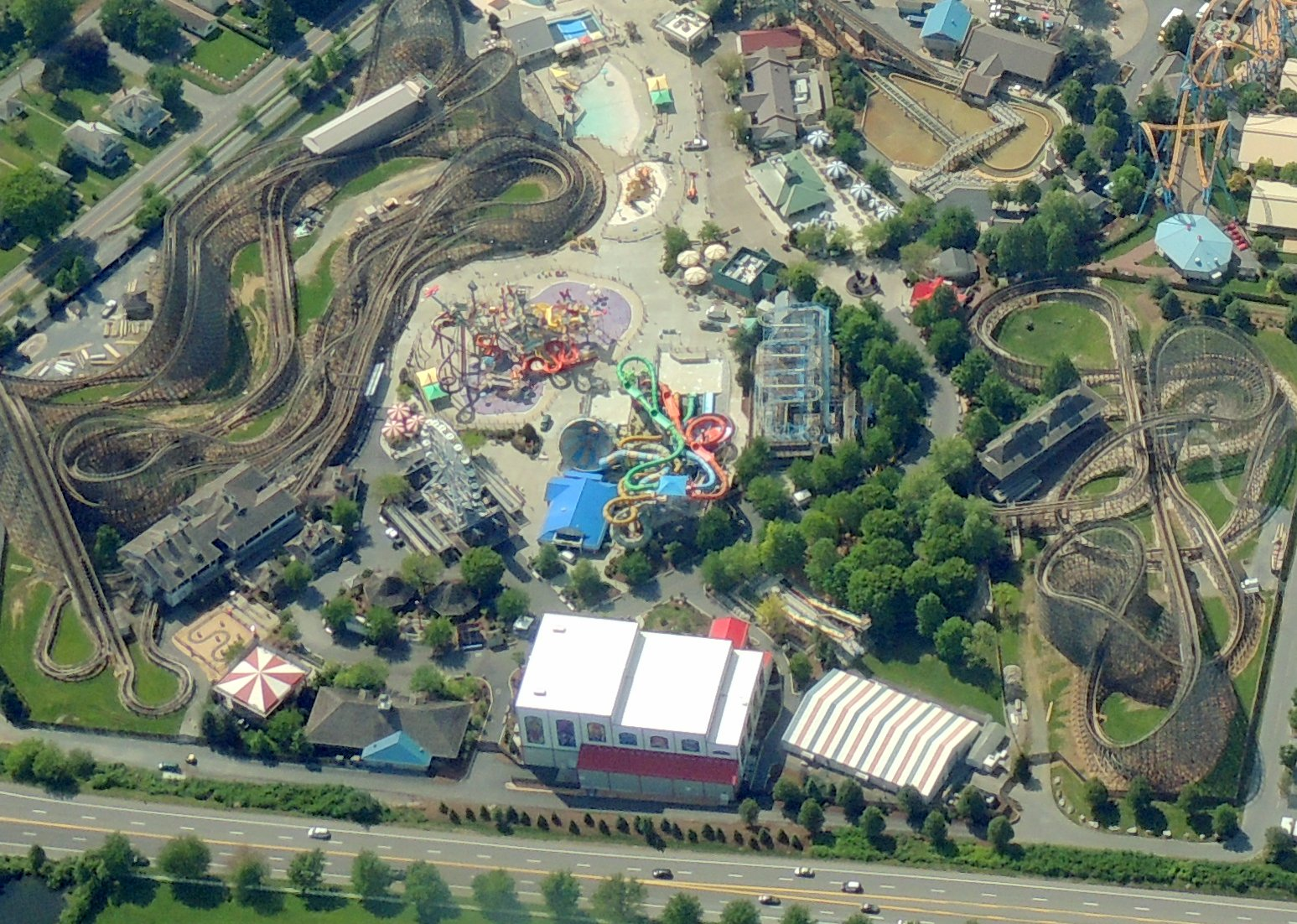 The ultimate ride .........   (In a airplane looking down at Hershey Park PA !)