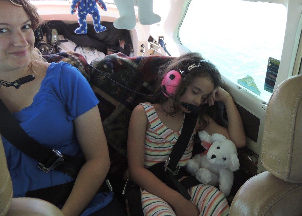 Heading to Baltimore Maryland...... Kathryn fast asleep !