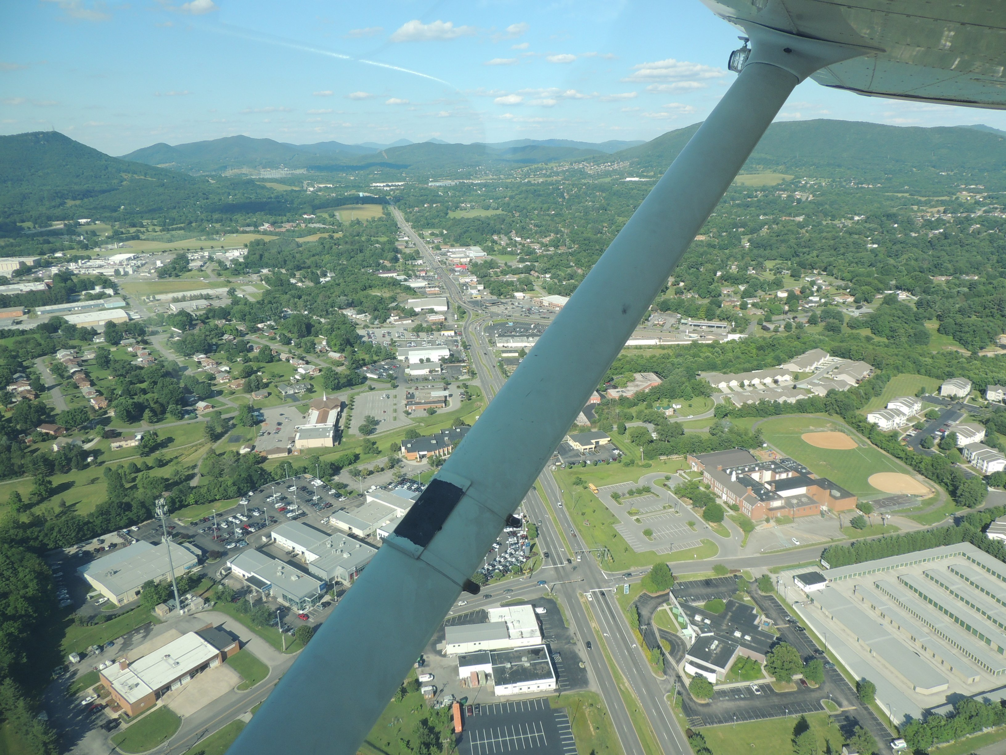 Departing Roanoke VA