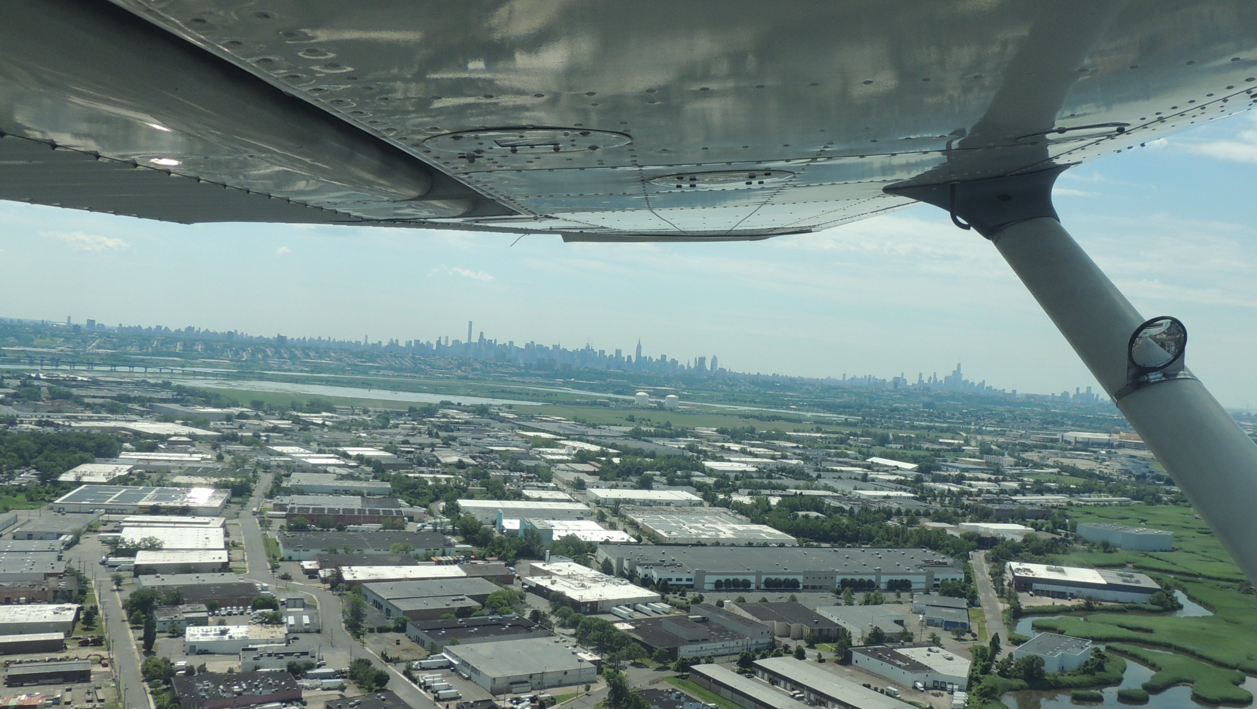 Departing Teterboro looking east to NYC