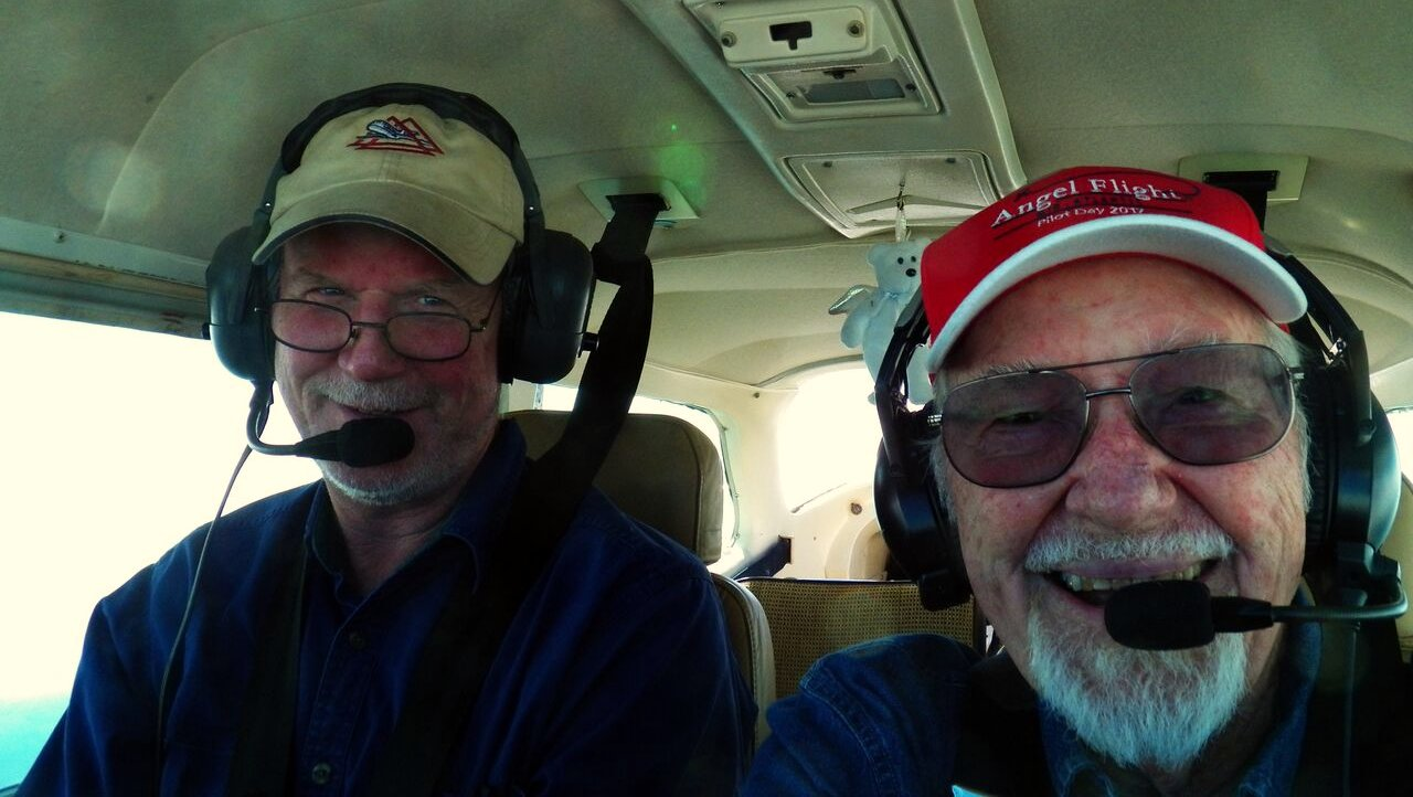 Captain John and our great mechanic and co-pilot Doug