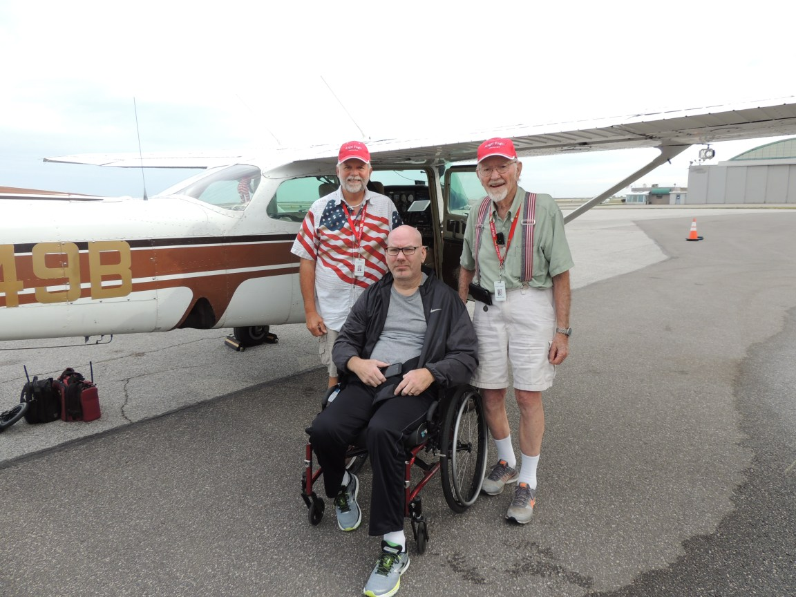 With our passenger, Jason in Cleveland