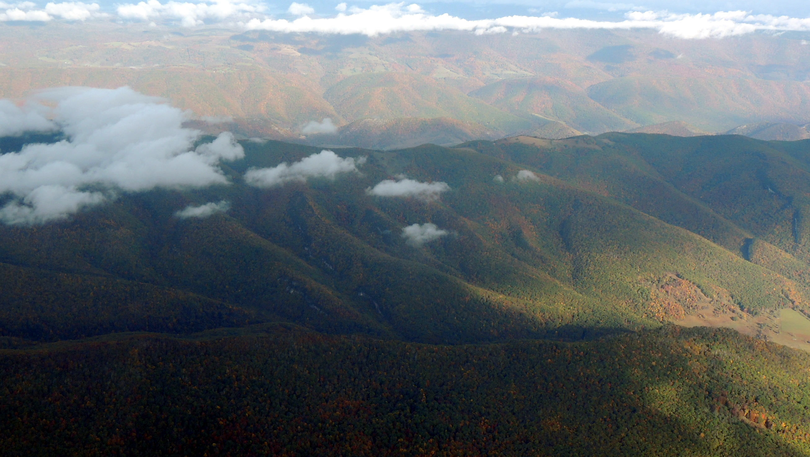 Heading over the Appalachian Mountains on our way to Cincinnati Ohio