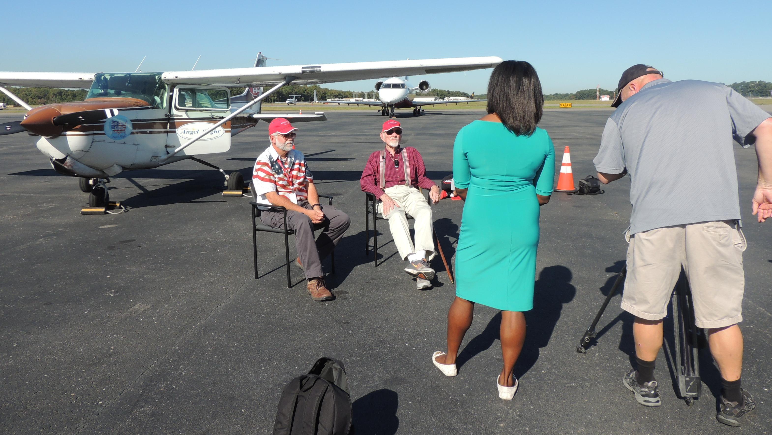 Being Interviewed by WAVY TV 10 Anchor Anita Blanton