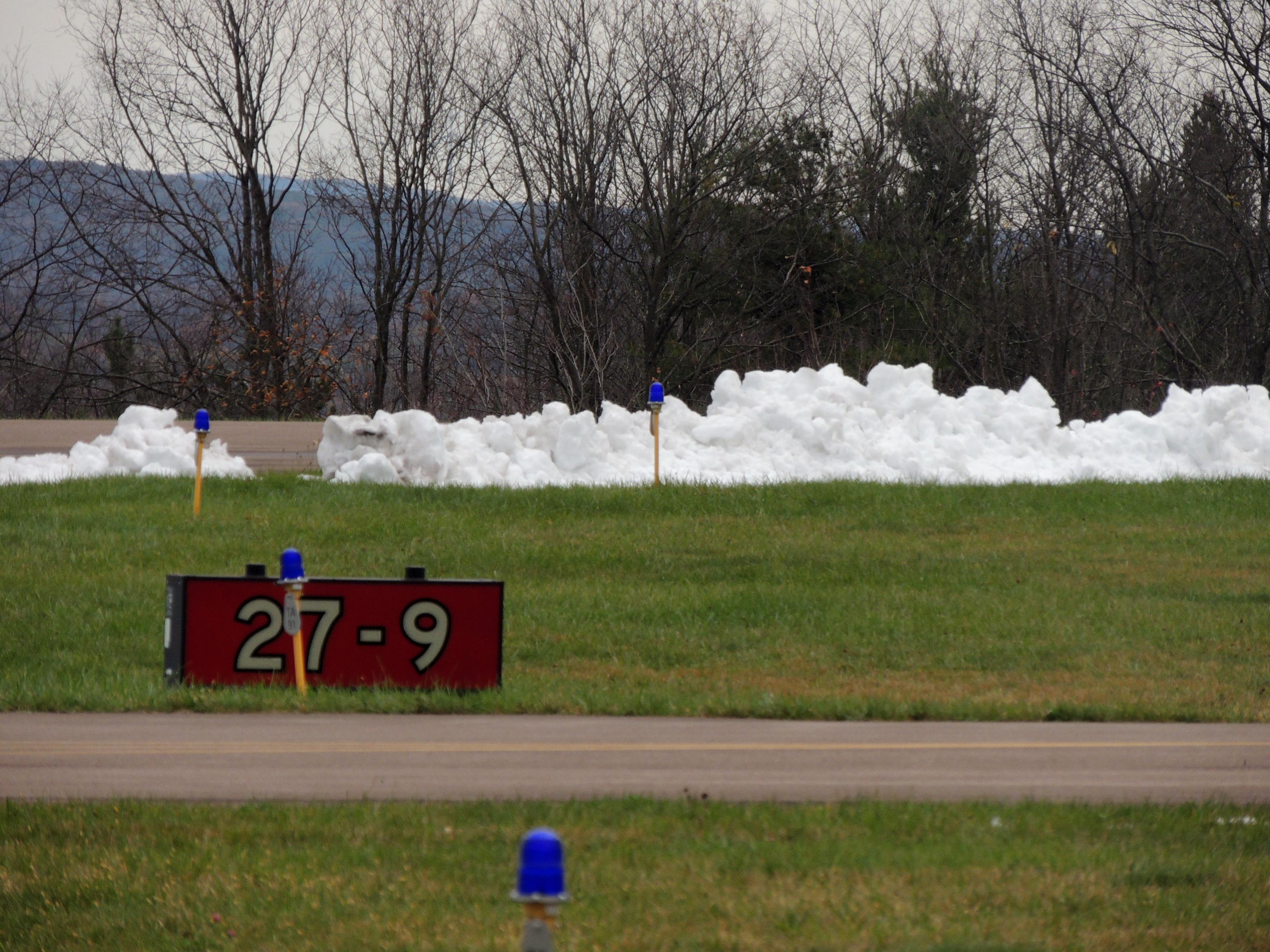 Snow along the runway (Garrett County MD