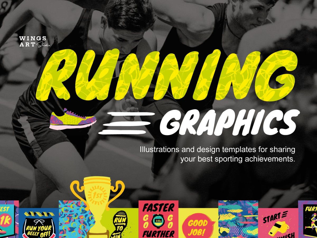 Running and Sports Graphic Templates