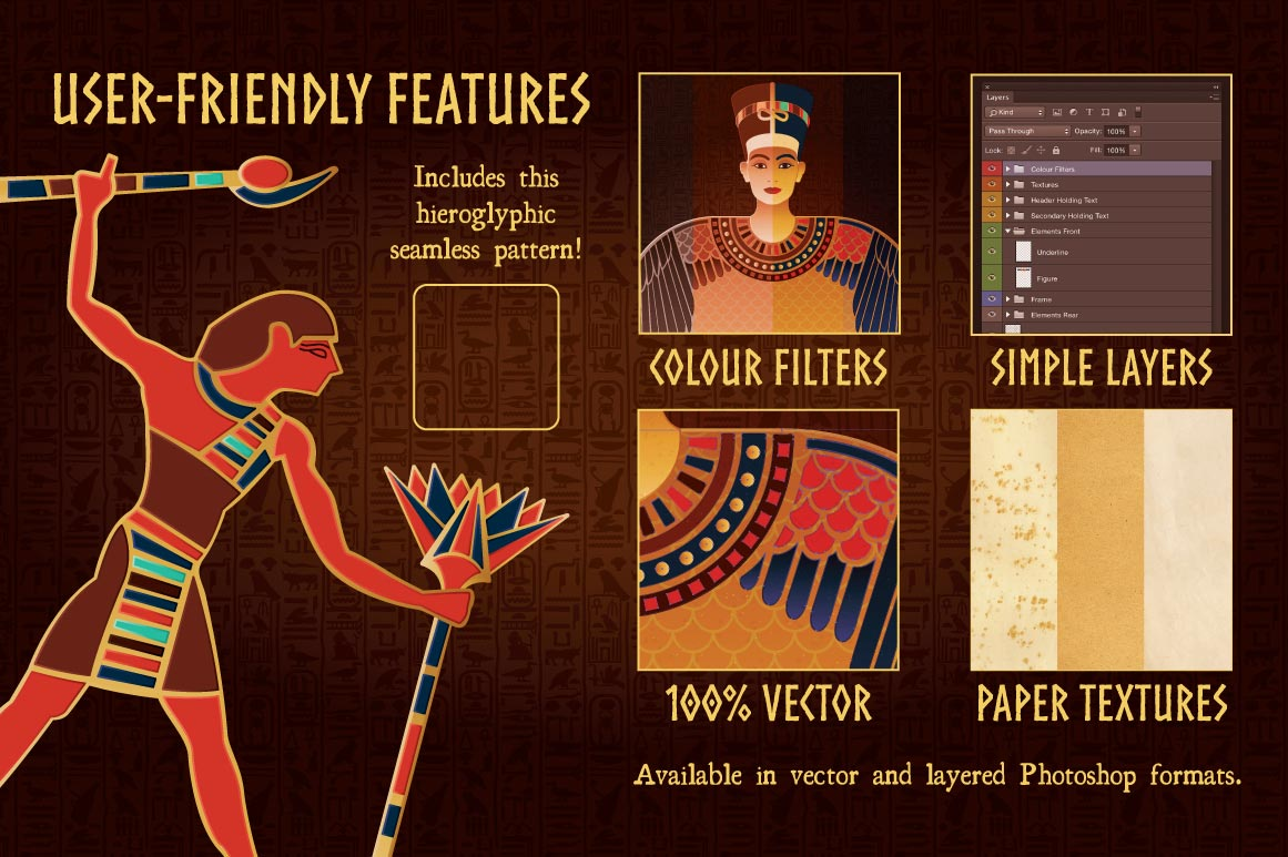 Egyptian Illustrations and Templates