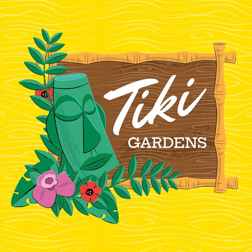 Free Tiki Illustration Badge