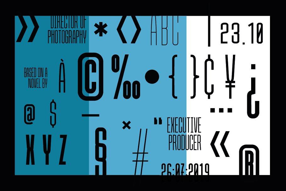 credit block font