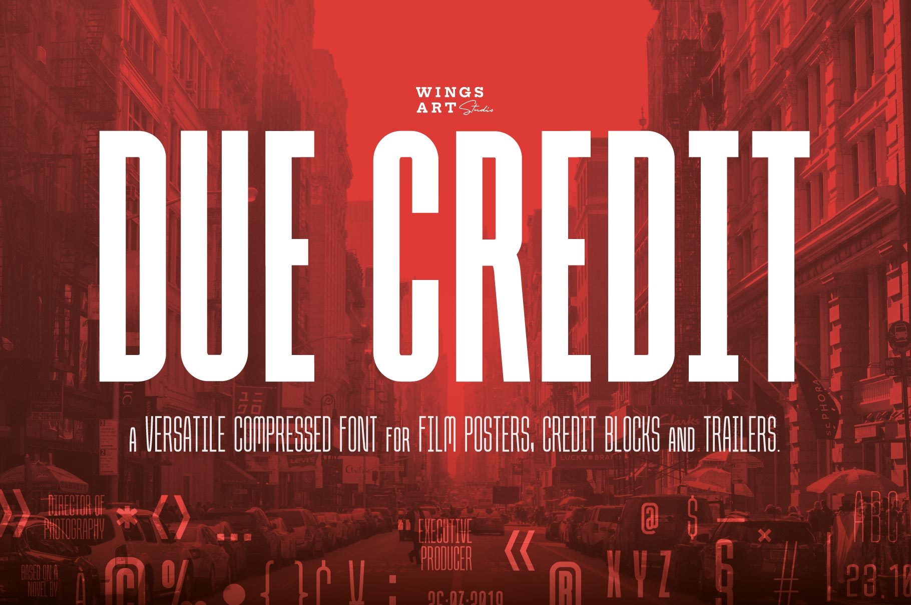 The Film Poster Font - Due Credit by Christopher King