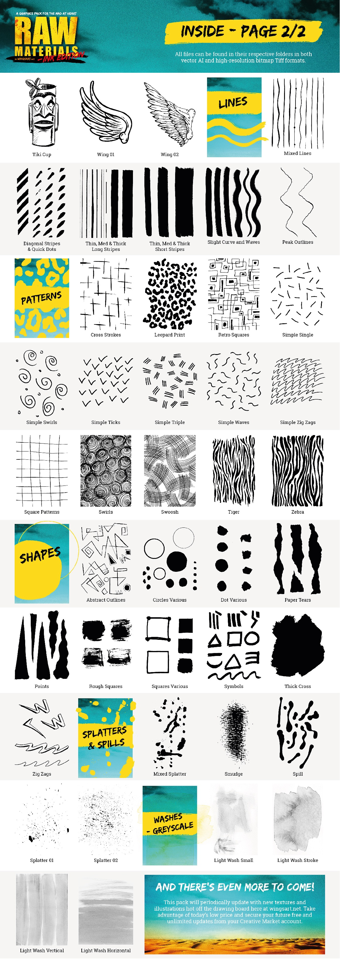 Ink Textures and Stock Illustrations