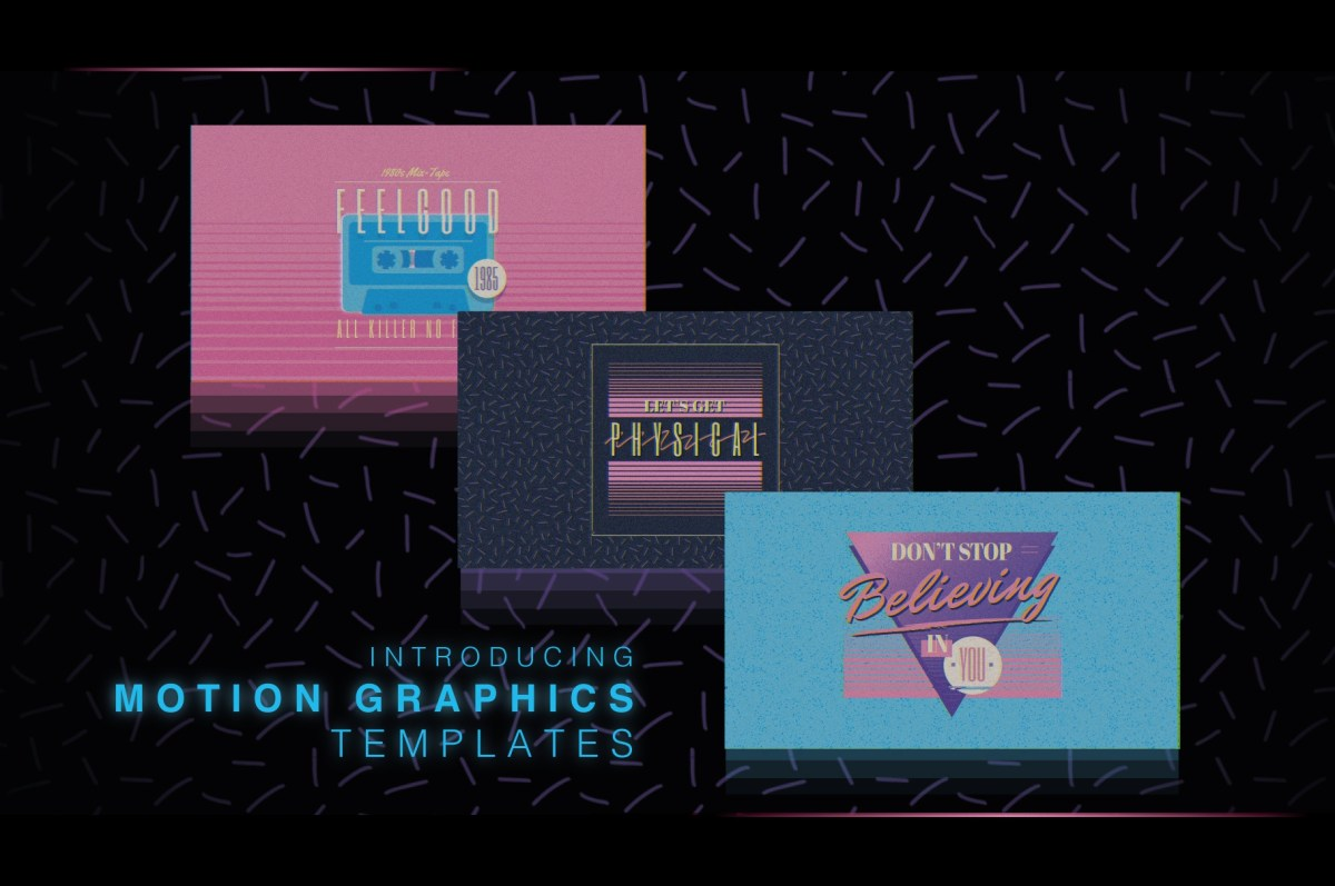 1980s Title Logo Animation Templates For After Effects