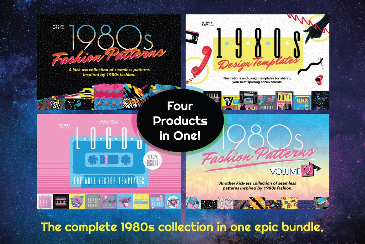 Download 1980s Retro Graphics Bundle