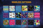 Download 80s retro fabric patterns