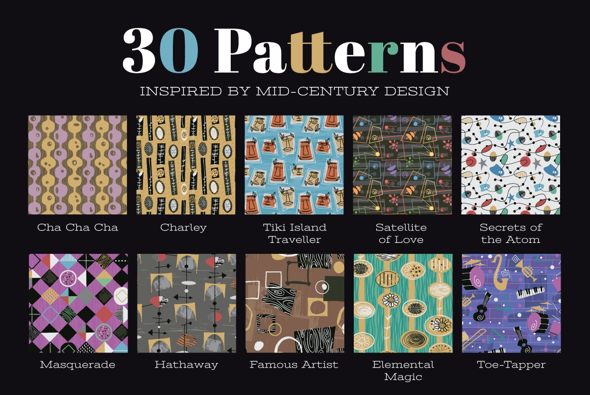 Mid-Century Fabric Patterns