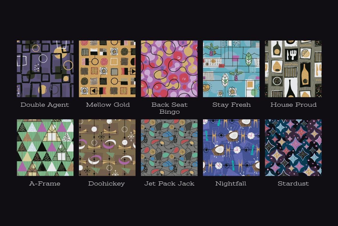 Mid-Century Fabric Patterns