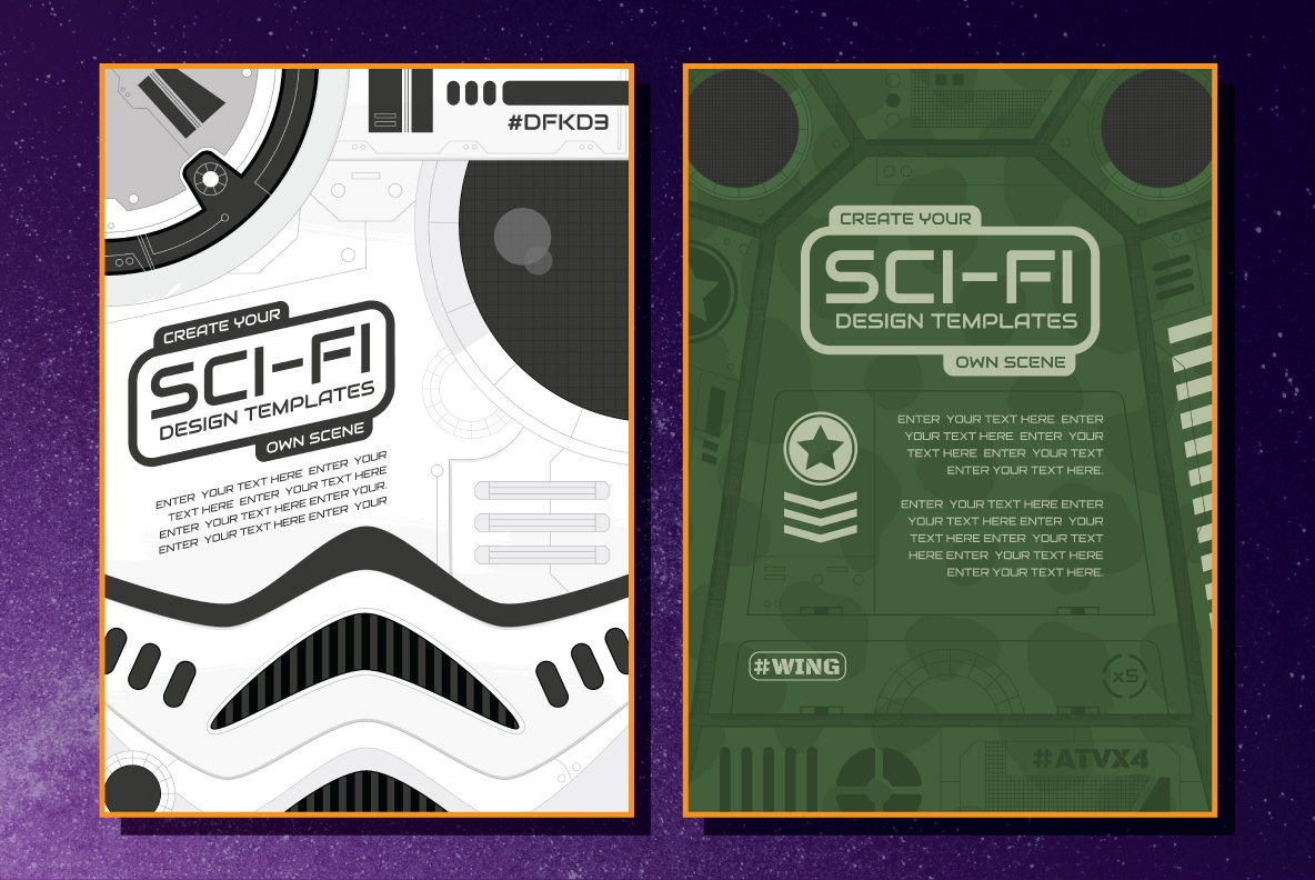 Sci-Fi Illustrations and Design Templates